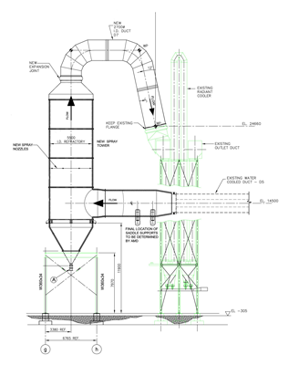 Spray Tower Drawing